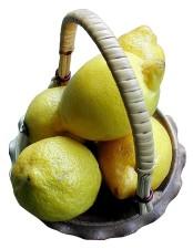 lemons, basket
