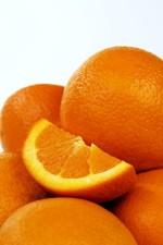 de près, les oranges