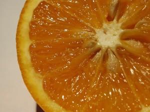 tranches, juteux, orange, fruits