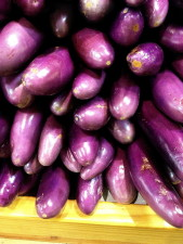 bright purple, Chinese, eggplant, solanum, melongena