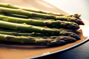freshly, cooked, asparagus, spears, vegetable