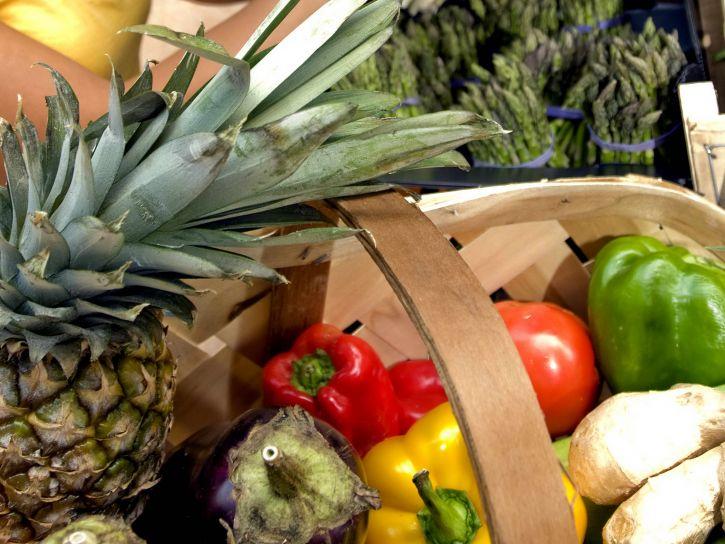 식료품, 채소, 식료품, 시장
