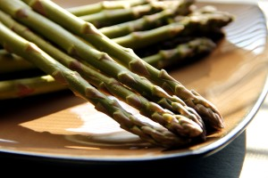 freshly, cooked, green, asparagus, spears, ready, eat, heated