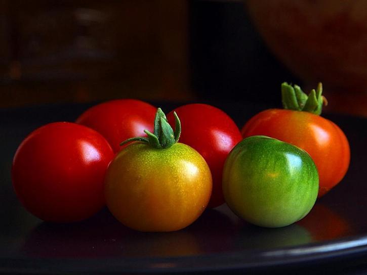 cerise, tomates