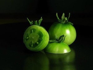 green, tomatoes