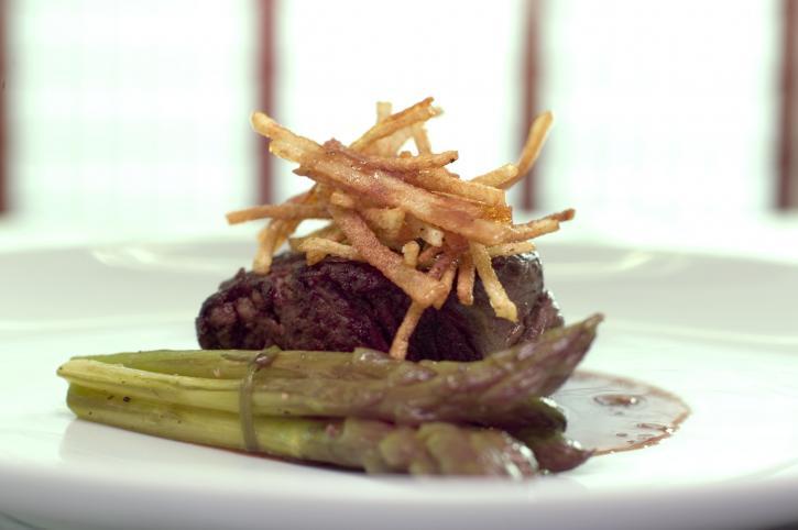 asparagus, meat, presentation, food
