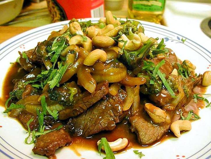 carne de vită, teriyaki, de gătit, de cină, la gratar, alimente, peapods, arahide