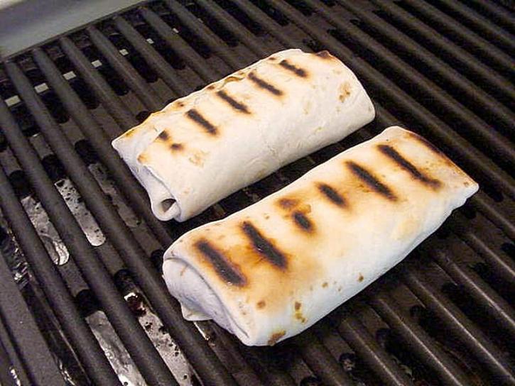 buritos, roštiljanje