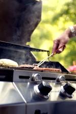 cook, hamburgers, hotdogs, outdoor, cookout