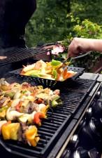 quatro, fresco, preparado, kebabs, grill