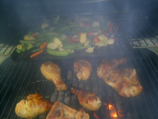 grilled, chickens