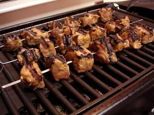 grilování, hovězí maso, maso