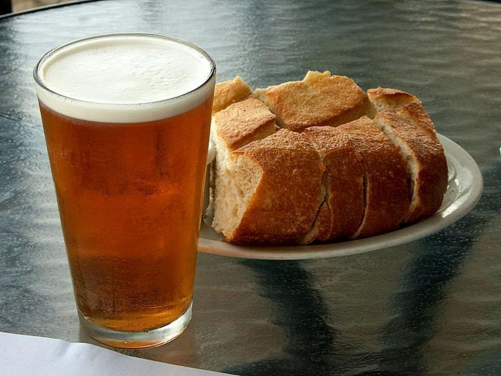 beer, bread