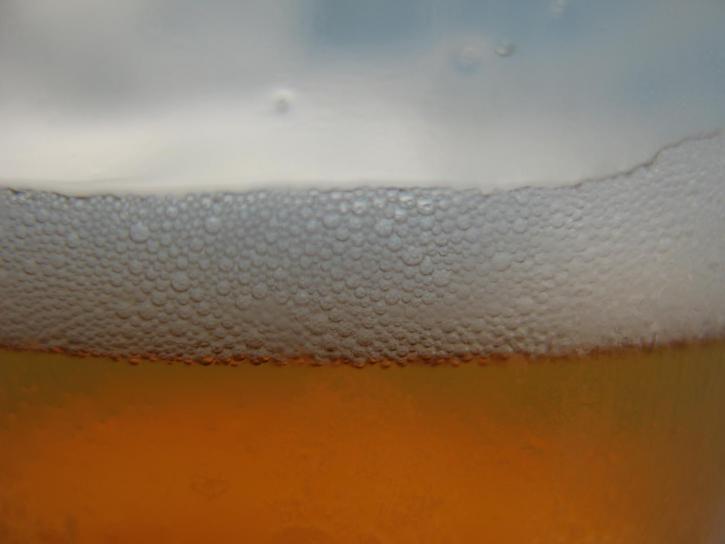 μπύρα, ποτήρι, κλείστε
