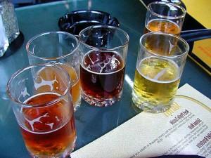 verres, bières