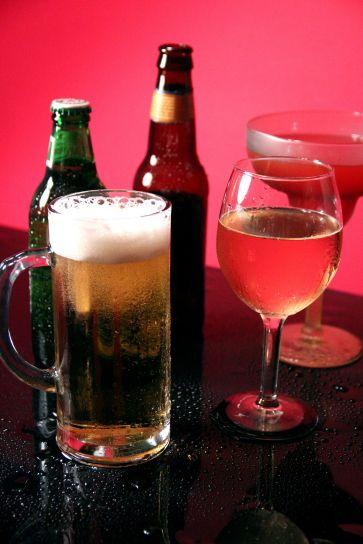 mélangé, boisson, bière, nature morte
