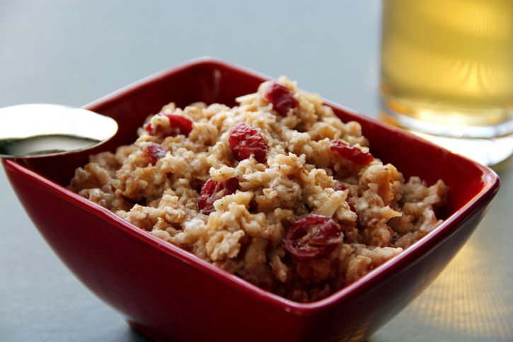 bowl, filled, delicious, looking, oatmeal