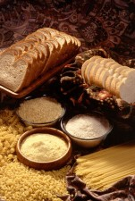 enriched, bread, flour, cornmeal, rice, pasta