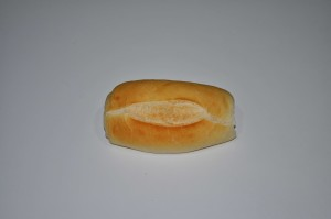 small, bread, white background