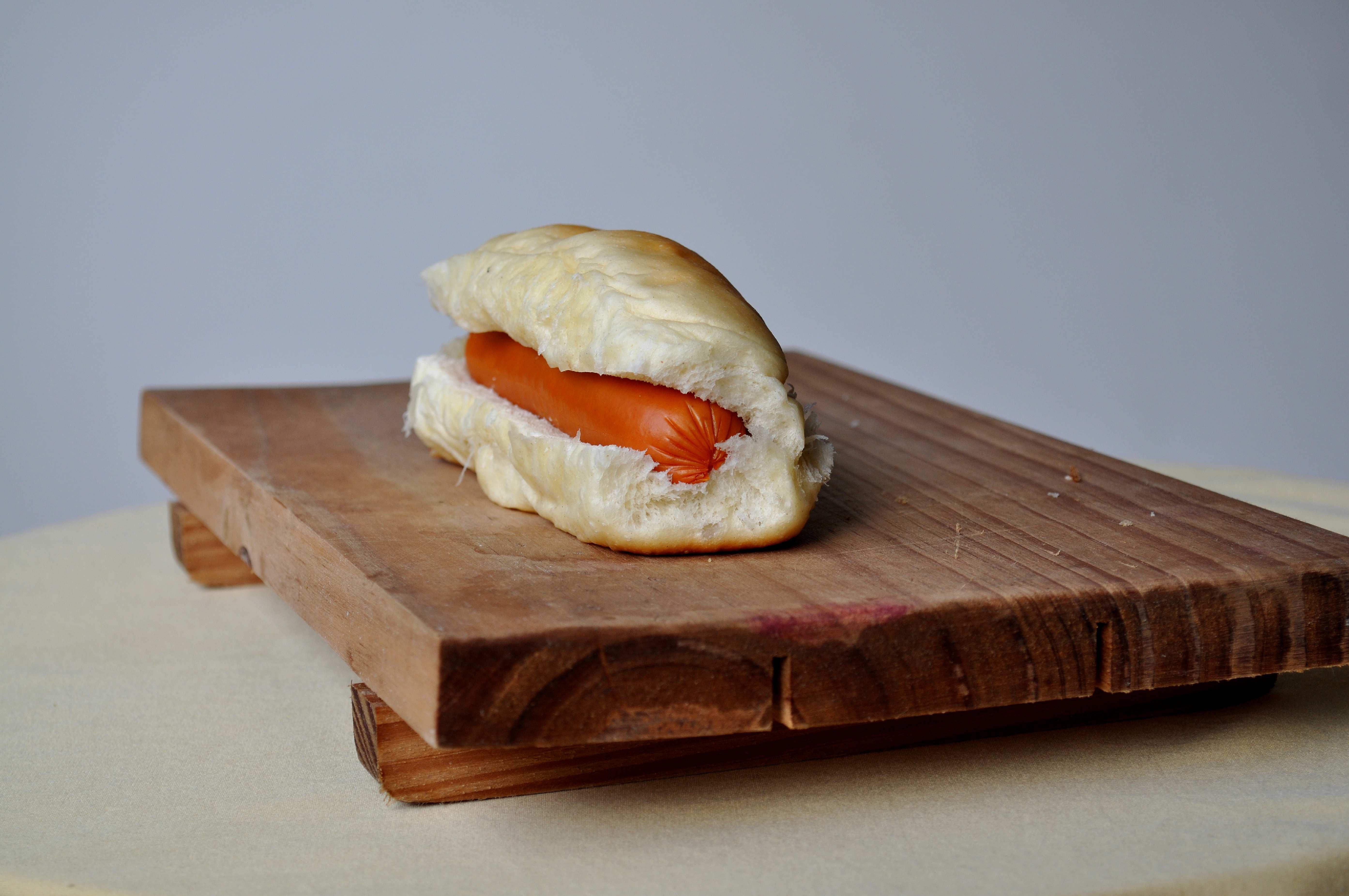 Free photograph; close, sandwich, sausage