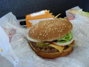 double, hamburger