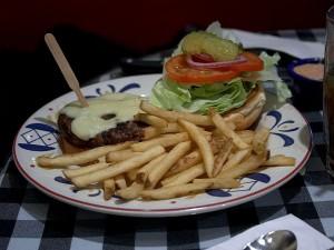 hamburgeri, pomfrit