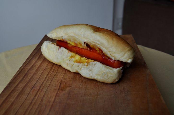 sandwich, bread, sausages