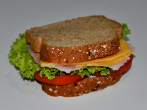 sandwich, bread, tomato, salad