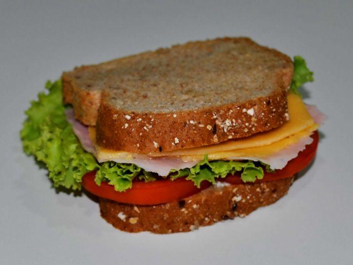 sandwich, bread, tomato, salad