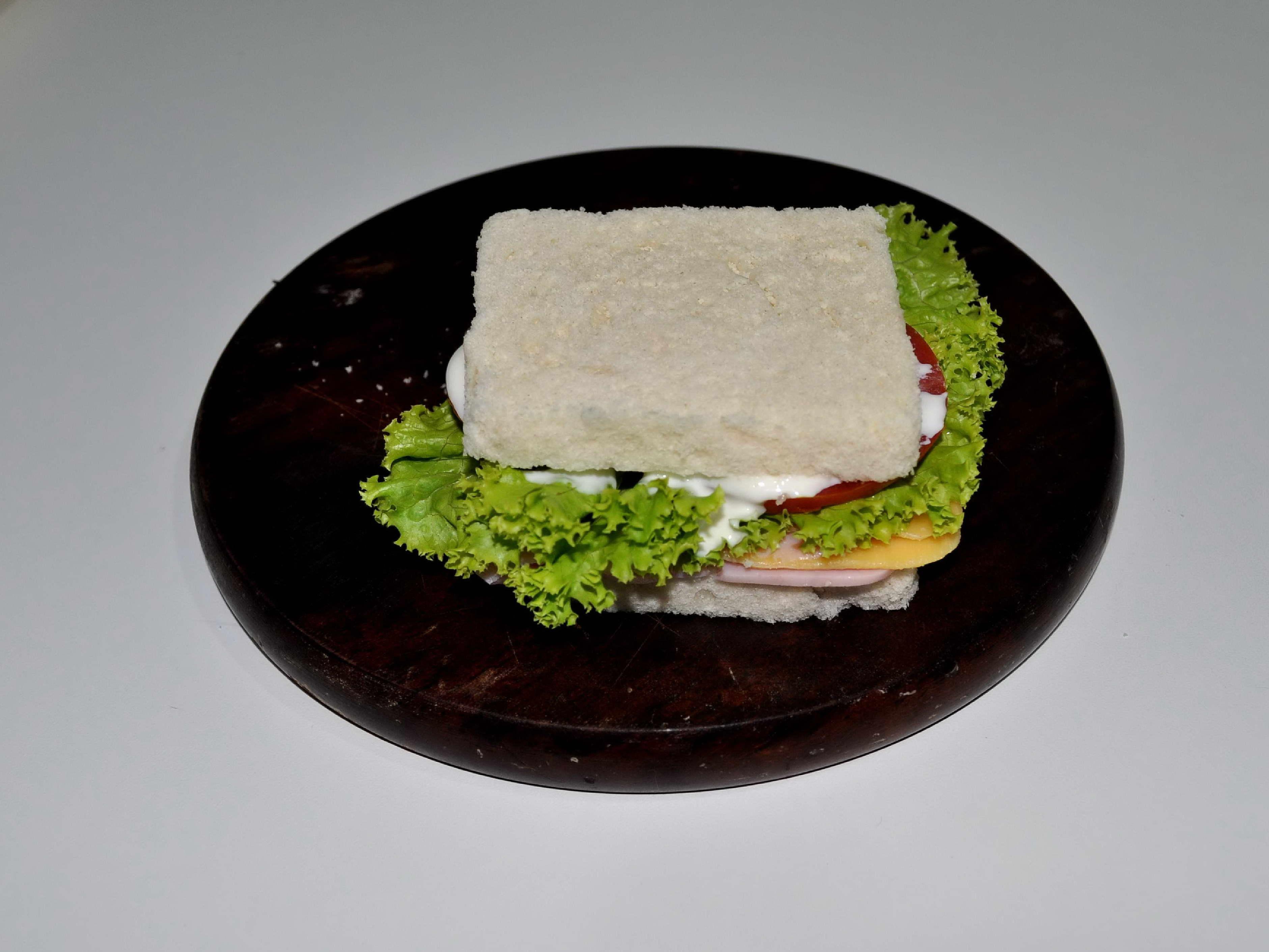 Free photograph; tasty, sandwich, plate