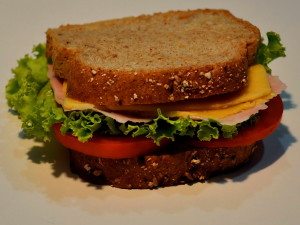 wholemeal, bread, sandwich