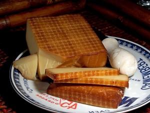 geräuchert, gruycre, Käse