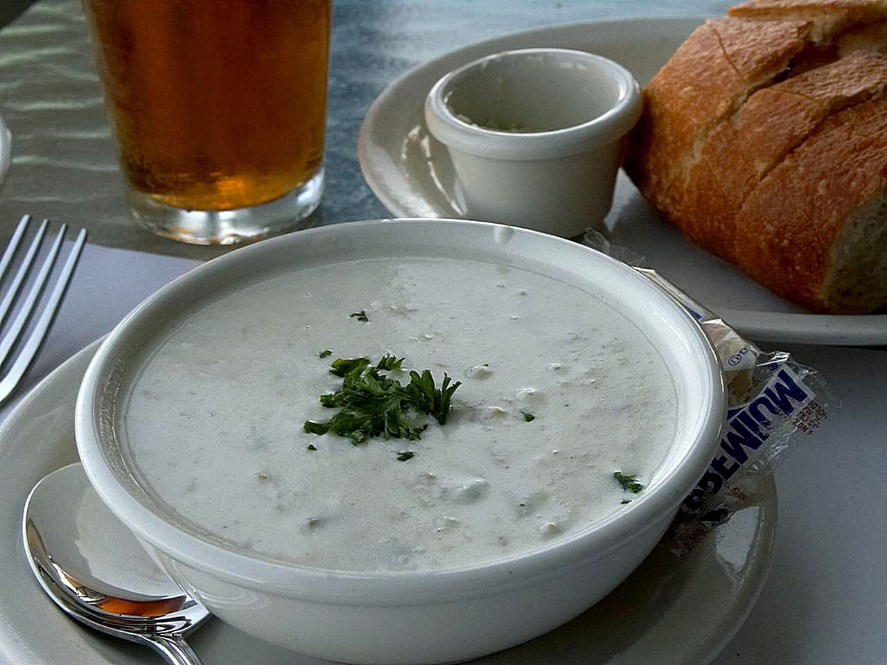 Free picture: clam, chowder, beer, sour, dough, bread