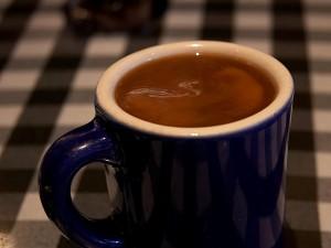 pohár, černá káva, nápoj