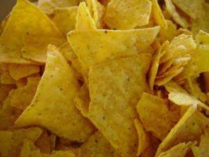 corn, chips, close