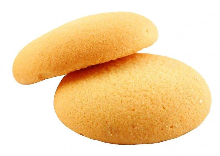 biscuit, white background