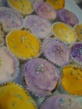 petits gâteaux, brillant, décorations