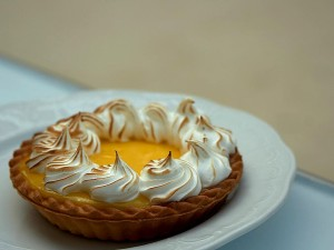 lemon, meringue, tart, cake