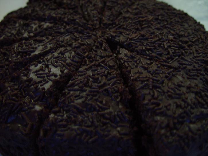 mud, cake, chocolate, sprinkles