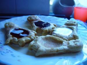 penguin, shaped, waffles, fillings