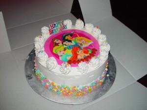 princesa, hielo, crema, pastel