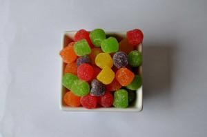 赤、緑、黄色、ジェリービーンズ、キャンディー、砂糖