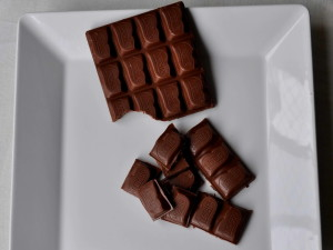 swiss, chocolate, plate