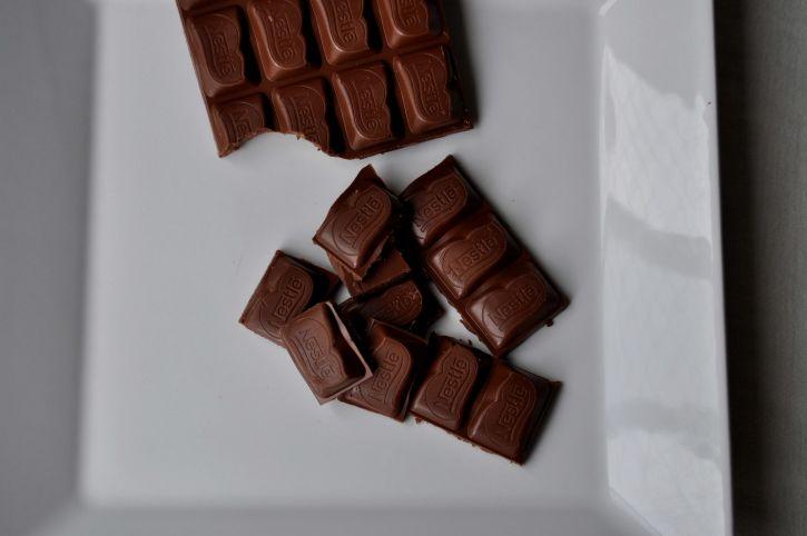 swiss, chocolate, white, plate