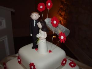 mariage, gâteau, dessert
