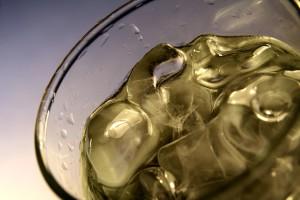 boire, verre, glace, eau