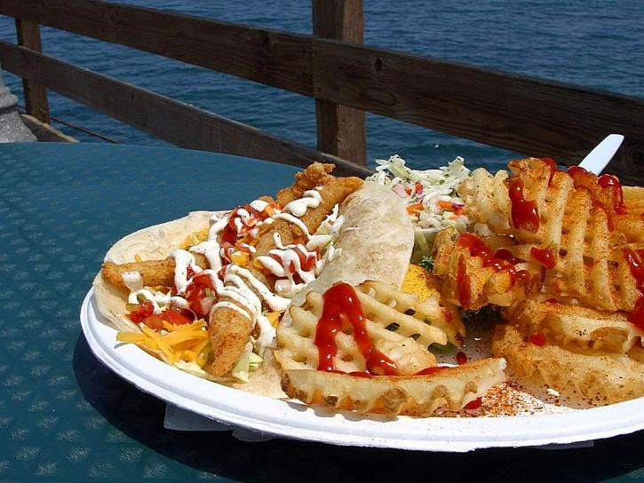 eating, imperial, beach