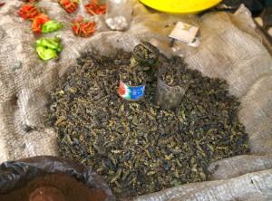 syötävä, toukkia, myynti, markkinat, Afrikka