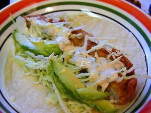 poissons, tacos, nourriture, chou, tortillas