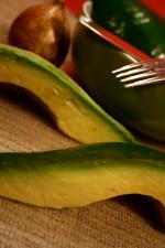 Florida, avocado, cắt, trái cây tươi,
